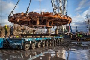 Głowica tarczy TBM 12,56 m użyta do budowy Tunelu pod Martwą Wisłą − Gdańskie Inwestycje Komunalne Sp. z o.o.