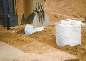 Kolumny piaskowe w otoczce geosyntetycznej na budowie autostrady A2 − INORA Sp. z o.o.